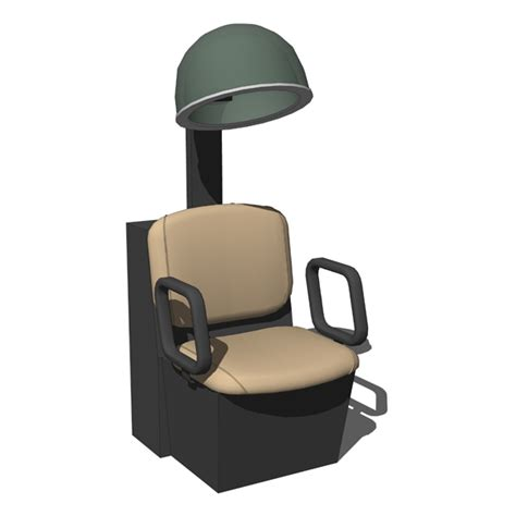 Hooded Hair Dryer With Chair by Qse Dryer Chair 3d Model Formfonts 3d Models Textures