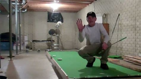 how to build a golf green in your backyard jeremiah s basement putting green youtube