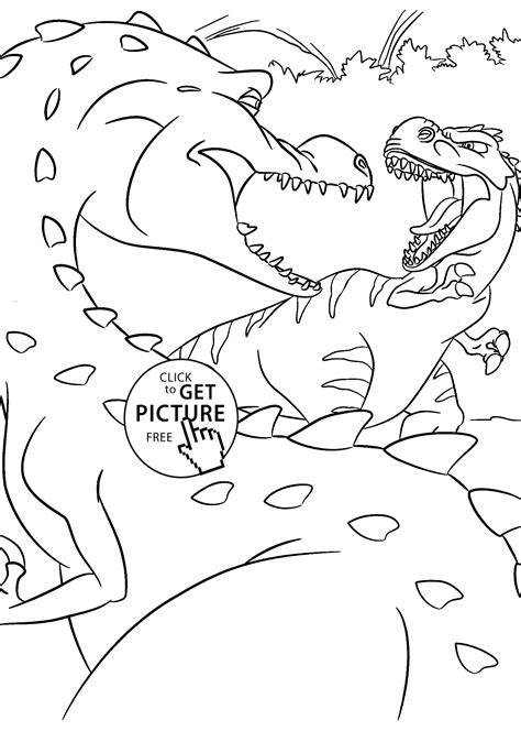 color fight fight dinosaurs coloring pages for printable free