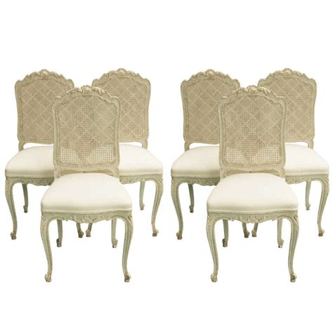 19th century louis xv caned back dining chairs at 1stdibs