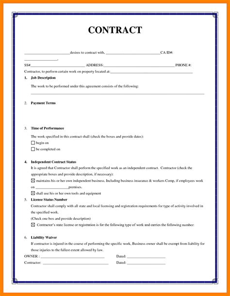 writing a contract agreement template 8 how to write a simple contract emt resume