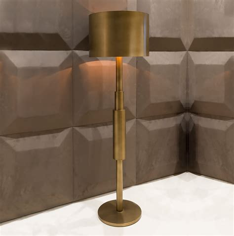 modern bronze floor l contemporary italian burnished brass floor l