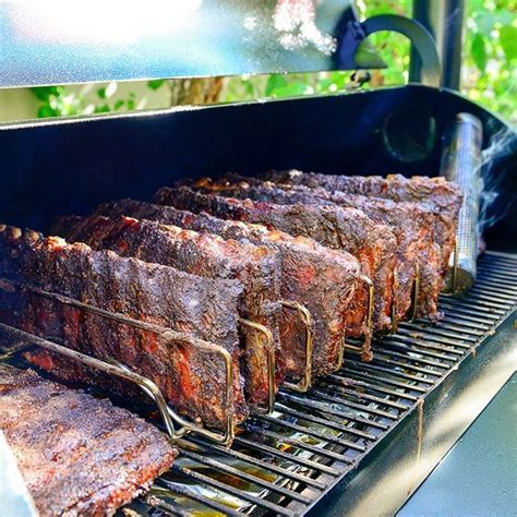 thick and deliciously smoked traeger bbq ribs you won t