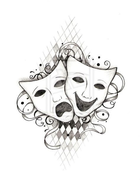 theater mask tattoo designs drama masks on venetian mask venetian