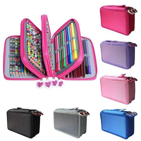 Tas Pouch 3 Layer 3 layer large capacity pouch pencil bag pen box desk storage makeup organizer storage