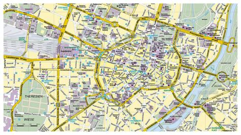germany map detailed detailed road map of munich city munich detailed road map