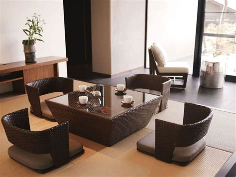 Low Dining Table Japanese Japanese Style Dining Table Set Home Design Ideas