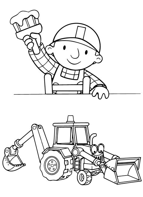 Bob The Builder Coloring Pages And Pictures Lets Build Print Color Craft Coloring And Painting