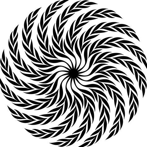 design images clipart spiral leafy design