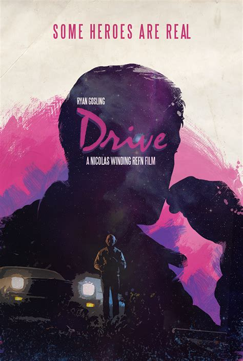 drive poster drive movie poster on behance