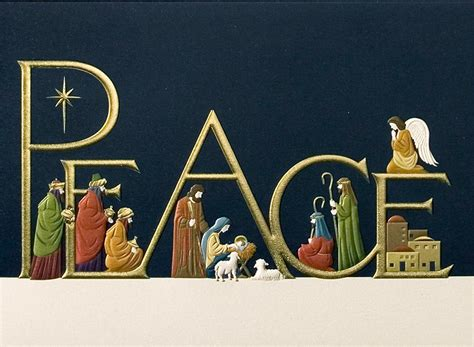 printable nativity scene christmas cards come in peace religious from cardsdirect