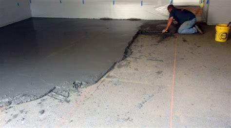 fixing  poorly sloped concrete floor  drainage