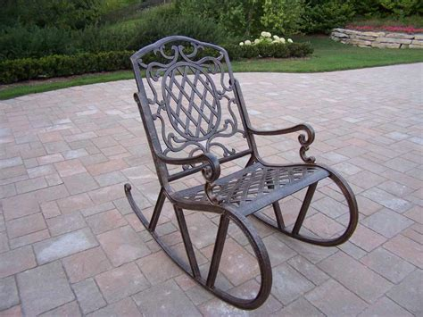 Metal Patio Rocking Chairs Lawn Chair Rocker Feel The Home