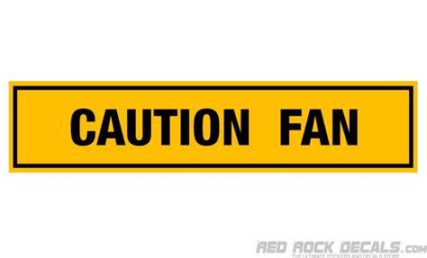 Fun Aufkleber by Car Warning Sticker Caution Fan Decal Radiator Fan