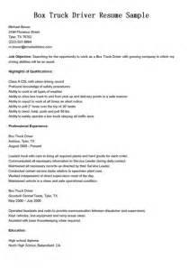 Truck Driver Description by Truck Driver Description For Resume Best Resume Exle