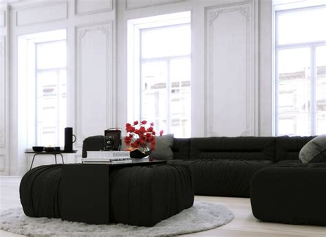black sectional living room ideas home accessories luxury living room corner design ideas with black sectional sofa covers and