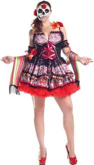 Day Of The Dead Costumes Day Of The Dead Plus Size Costume Costume Craze