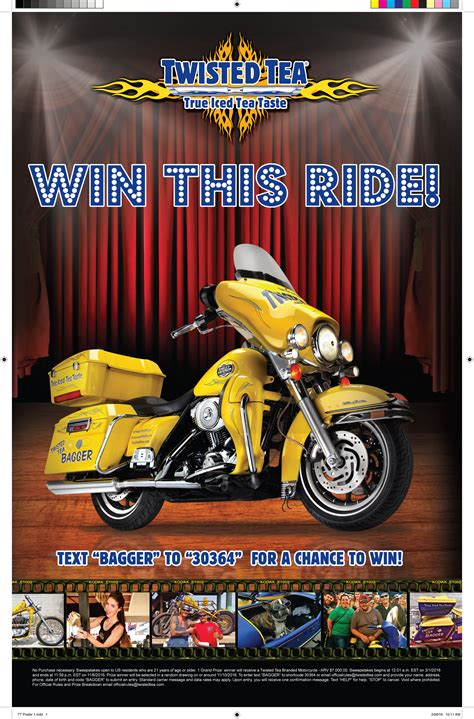 Twisted Tea Sweepstakes - twisted tea 174 text to ride sweepstakes