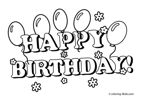 free coloring pages that say happy birthday happy birthday printables coloring pages with balloons for