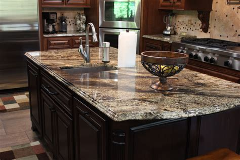 Granite island and counters