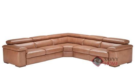natuzzi leather power reclining sectional arda leather true sectional by natuzzi is fully