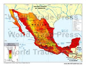 Weather Map Mexico by Temperature In Mexico Map