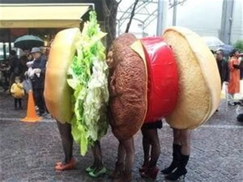 group costume  japan  hamburger hamburger costume