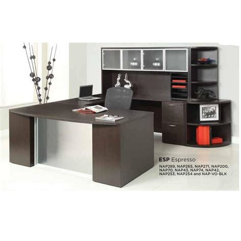 osp furniture napa desk osp napa bowfront u desk workstation with glass modesty