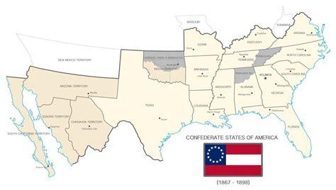 usa map confederate states morley confederate states of america