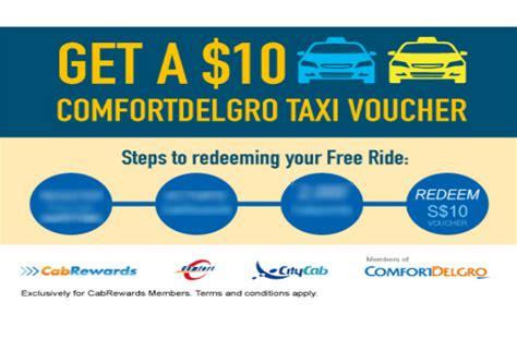comfort taxi voucher comfortdelgro free 10 taxi voucher 1 31 mar 16