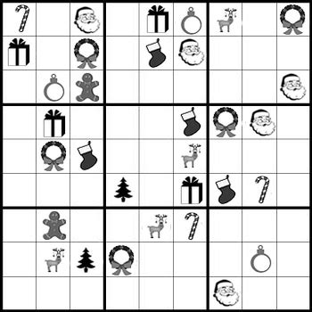 printable holiday sudoku christmas sudoku puzzles holiday fun with patterns tpt