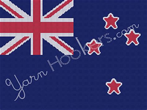 pattern making new zealand ravelry new zealand national flag pattern by yarnhookers com
