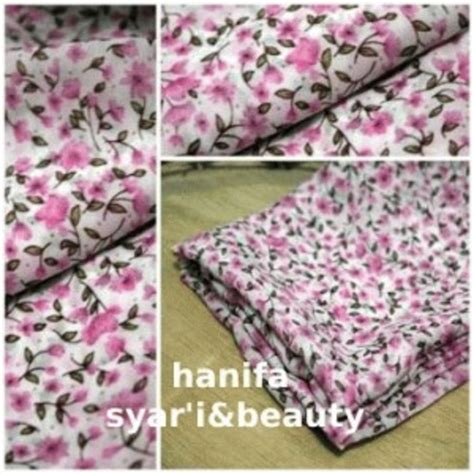 Jilbab Segi Empat Motif Bunga Kecil jual jilbab segiempat motif bunga kecil pink ifat shop