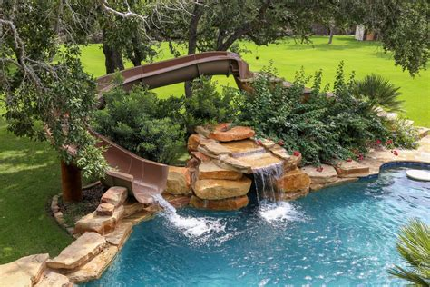 backyard pool water slides custom backyard pool slides backyard design ideas