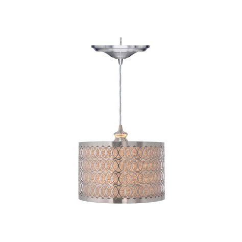 home decorators collection 1 light brushed nickel