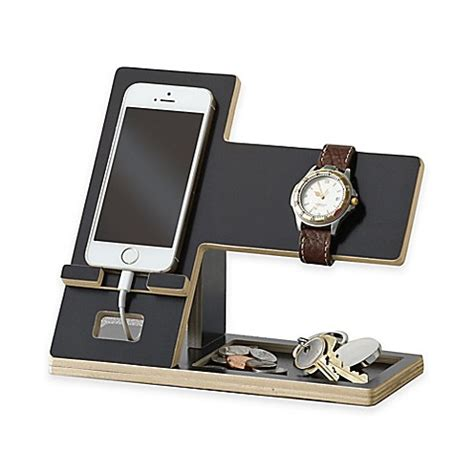 bed bath and beyond cbell studio 3b cell phone and accessory stand in black bed bath beyond