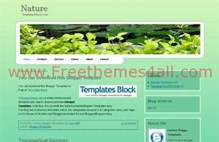 nature templates for blogger free green nature forest blogger template download