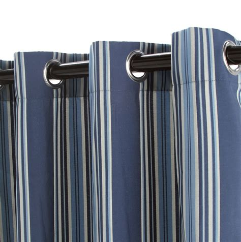 blue and tan striped curtains blue and brown striped curtains home design ideas