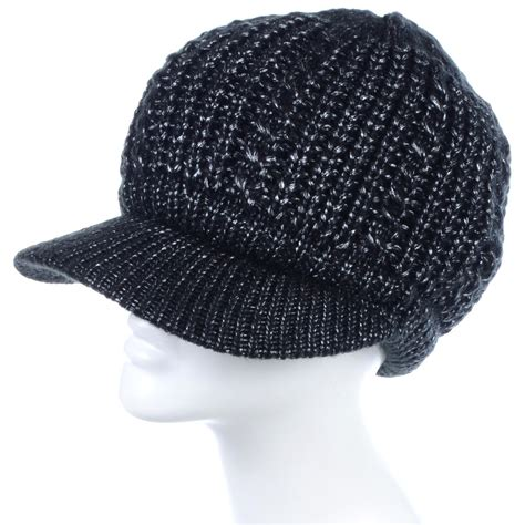 cheap knit hats wholesale winter knit hats with brim in assorted colors