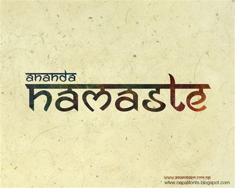 tattoo fonts in hindi ananda namaste free font by ananda maharjan via behance