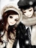 Cute Anime Boyfriend and Girlfriend