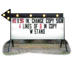 business signs outdoor light portable business sign with arrow 40 quot x 96