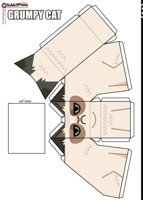 Tubbypaws Papercraft - grumpy cat papercraft diy etiquetas y printables