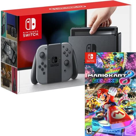 mario kart 8 console nintendo switch 32gb console and mario kart 8 deluxe