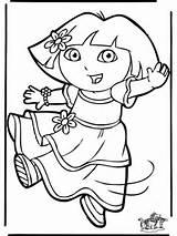 NuKleuren.nl / Kinderkleurplaten / Kleurplaat Dora / Dora 11