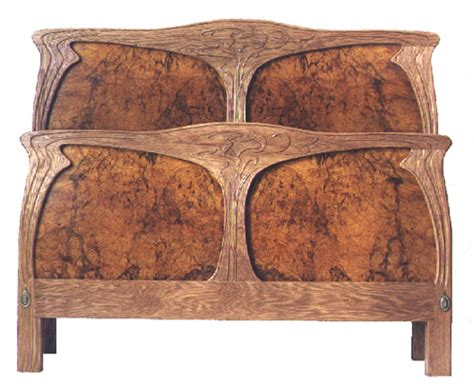 art nouveau headboard dorothy roof fine furniture handmade beverly massachusetts