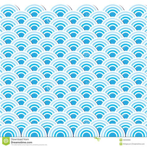 japanese pattern wind pattern wave of sea japanese style stock vector image