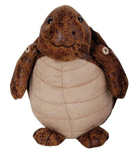decorative door stops animals doorstop elephant rabbit turtle faux leather suede heavy