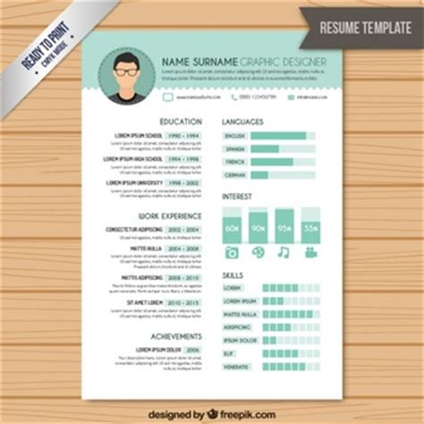 template resume freepik skills vectors photos and psd files free