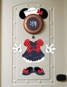 Viccute New Sailor Minnie disney pumpkin mickey mouse laminated cruise stateroom door magnet set oh the